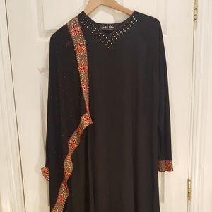 Abaya Jilbab Maxi Robe Niqab Hijab Caftan Galabeya for sale